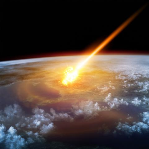 astroid impact disruption